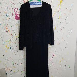 Nice long women's two-piece dress